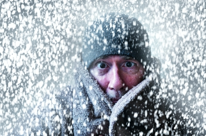 Shivering-Man-Snow-Storm