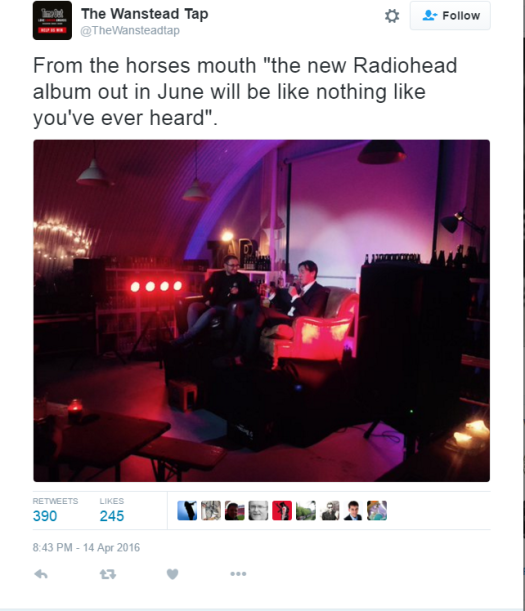 radiohead tweet