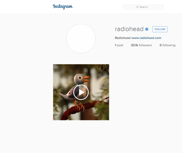 radiohead dawn chorus instagram