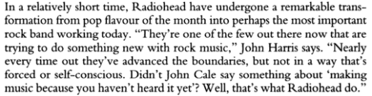 radiohead john cale quote