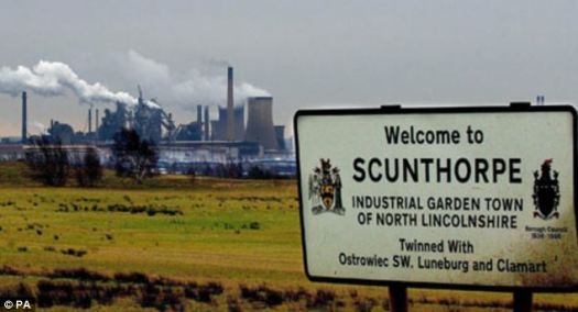 scunthorpe sign