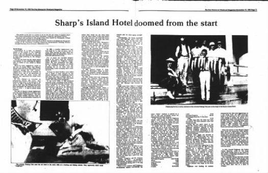 sharps island hotel news